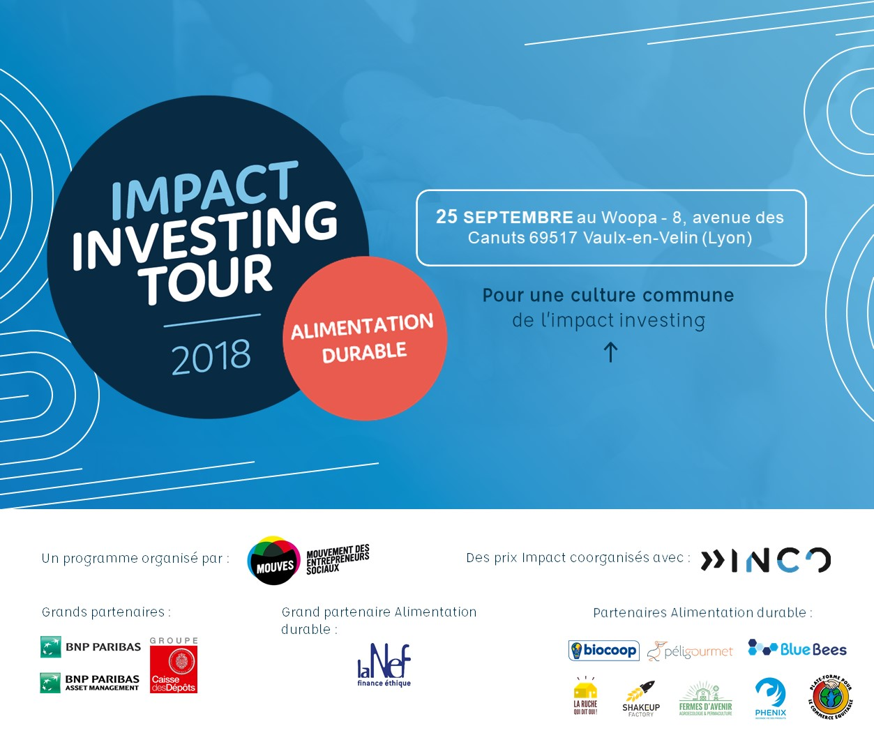 Impact Investing Tour – Alimentation Durable le 25/09 à Lyon