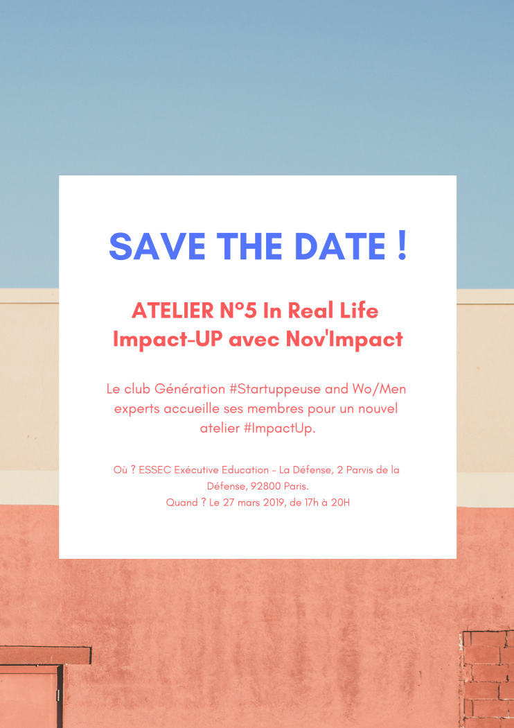 ATELIER N°5 In Real Life : Impact-UP avec Nov'Impact