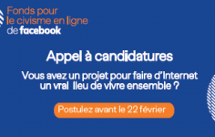 AAP du fonds pour le civisme enligne de Facebook < 22/02