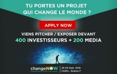 ChangeNOW summit – Appel à candidatures jusqu'au 30/06