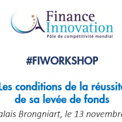 Workshop sur « Les conditions de la réussite de sa levée de fonds » le 13/11