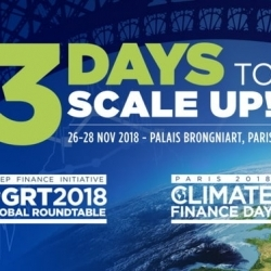 Global Round Table & Climate Finance Day 2018 du 26 au 28/11